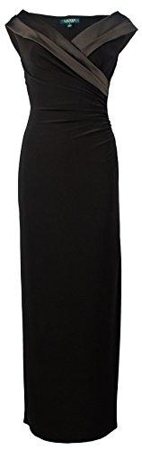 Lauren by Ralph Lauren Women Portrait Collar Sheath Dress Black 4