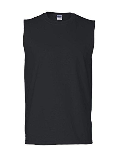 Gildan Mens 6.1 oz. Ultra Cotton Sleeveless T-Shirt G270 -BLACK 2XL