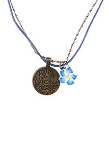 Disney Lilo & Stitch Stitch Hibiscus Chain & Cord Necklace