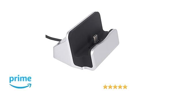 Tipo C Cargador Dock, Miel Durable USB Type-C Carga rápida Cargador de Carga para estación de Carga USB C [] Compatible con Moto Z/Z Play, ...