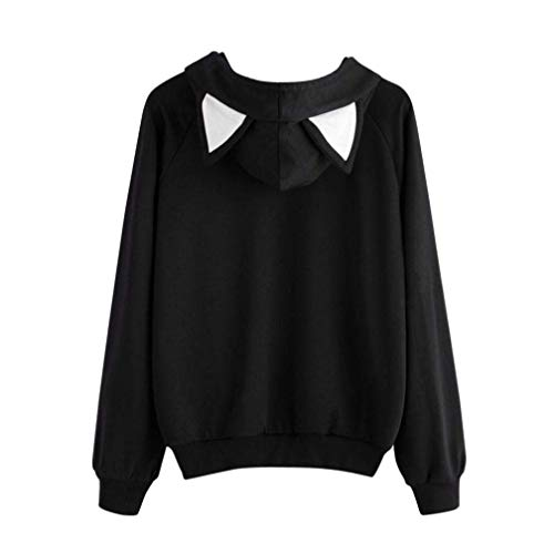 Cat Blouse Manches Automne Chemises Womens Longues Capuche À Hiver Sweat Tops Fuxitoggo Pull Casual pqE45wx