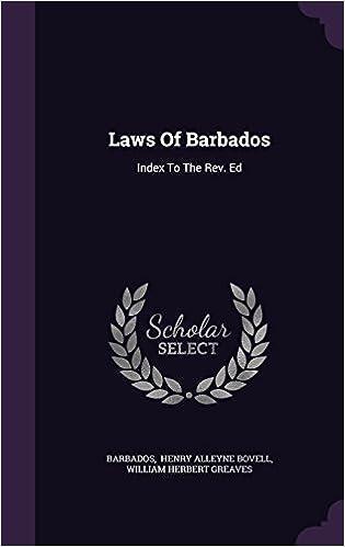Read online Laws Of Barbados: Index To The Rev. Ed PDF, azw (Kindle), ePub, doc, mobi