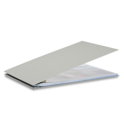 (Pina Zangaro Bex 11x17 Landscape Screwpost Binder Gray, Includes 20 Pro-Archive Sheet Protectors (34062))