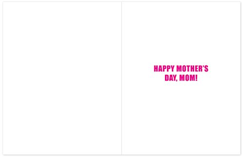 J2084MDG Jumbo Funny Mother's Day Card: Amazing Mom With Envelope (Extra Large Version: 8.5'' x 11'') Photo #2