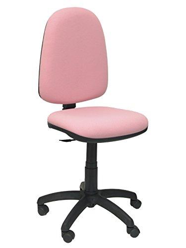 Piqueras y Crespo 04CP - Silla de Oficina ergonomica, Asiento y Respaldo tapizados en Tejido Bali, Color Rosa palido