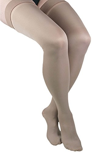 ITA-MED Microfiber Thigh Highs - Compression (25-35 mmHg): H-306(2), 2 Count, X-Large, Beige by ITA-MED