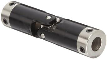 "Boston Gear JP625/16 Universal Joint, Single, Molded, 0.313"" Bore, 0.860"" Bore Depth, 2.641"" Length, 0.625"" Outside Diameter, 60 ft/lbs Max Torque, Delrin"