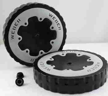 Weber Two 8-Inch Replacment Wheels 99252 (Weber Grill Parts Wheels compare prices)