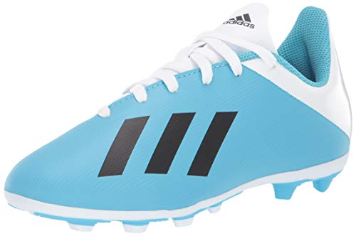 adidas Unisex X 19.4 Firm Ground Soccer Shoe, Bright Cyan/Black/Shock Pink, 10.5K M US Little Kid