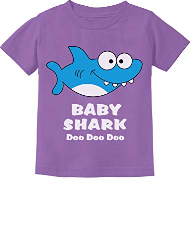 Baby Shark Song Doo doo doo Family Dance for Boy Girl Infant Kids T-Shirt 18M Lavender