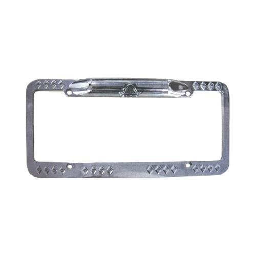 CAMERA TVIEW LICENSE PLATE FRAME *SILVER*