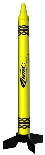 (Estes Yellow Star Crayon Rocket)