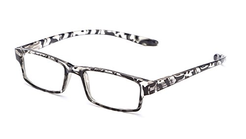 Glossy Translucent Zebra Print Colored Thin Light Spring Temple Reading Glasses by IG