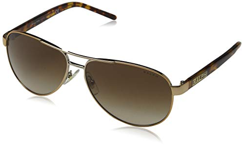Ralph Lauren Sunglasses Women's 0ra4004 Aviator Sunglasses, Brown Tortoise, 59.0 ()