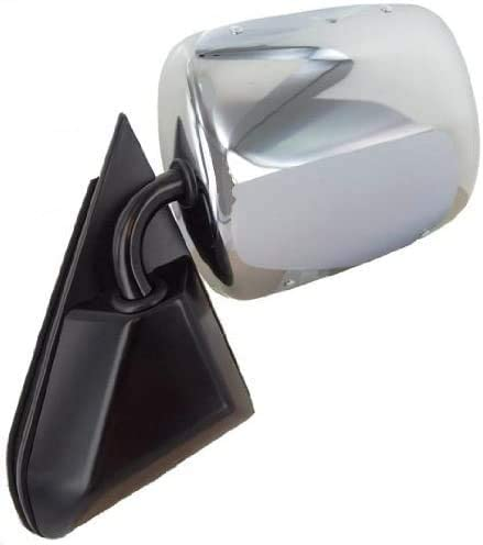I-Match Auto Parts Left Driver Side Manual Door Mirror Replacement For 1988-2001 GMC//Chevy Fullsize Pickup 1992-1999 GMC Yukon GMC//Chevy Suburban and Blazer GM1320106 15697331 Chrome Foldaway Type
