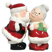 Westland Giftware Mwah Magnetic Santa and Mrs. Clause Salt and Pepper Shaker Set, 3-3/4-Inch by Westland Giftware