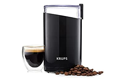KRUPS Electric Coffee Grinder, Spice Grinder, Stainless Steel Blades, 3 Ounce, Black from Krups North America Inc.