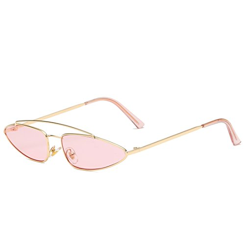 Purple Color Pink y Gold Frame de Sol para Gafas Mujer para Metal Hombre Aviador Espejo Lente de de Lens Frame Plano chasis Lens Sakuldes de Gold RqwATFS