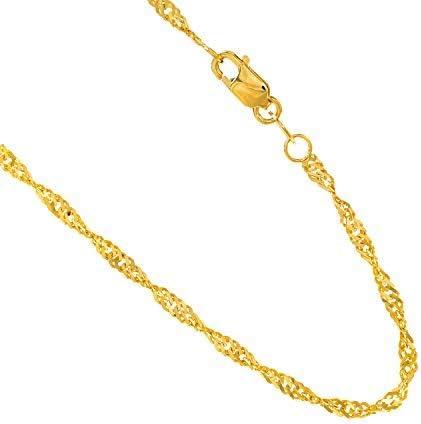 Lex /& Lu 14k Yellow Gold 1.50mm Handmade Regular Rope Chain Necklace or Bracelet