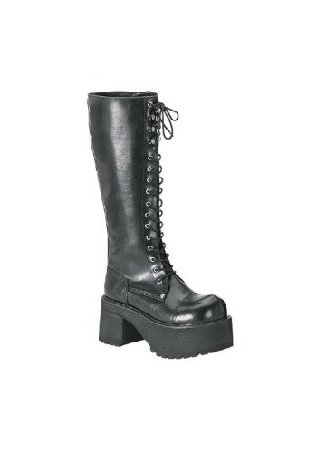 Pleaser Men's Ranger 302 Lace-Up Boot,Black PU,8 M US