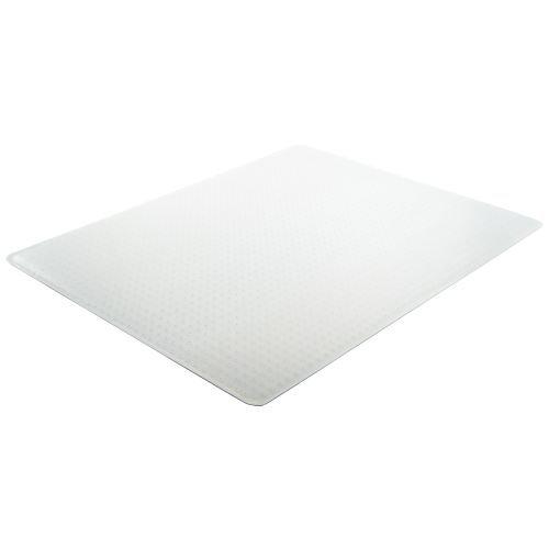 Deflecto Execumat Clear Chair Mat, High Pile Carpet Use, Rectangle, Beveled Edge, 45