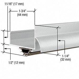CRL Aluminum Finish ''U'' Shape Door Bottom - 48''