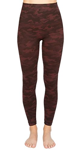 SPANX Women's Look at Me Now Leggings Wine Camo Small 24