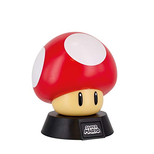 Super Mario Lampara Mushroom, 50 W, Multicolor