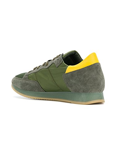 Philippe Model Men's TRLUSR17 Blue/Green Leather Sneakers outlet reliable real online outlet locations sale online discount pictures 07HQA0