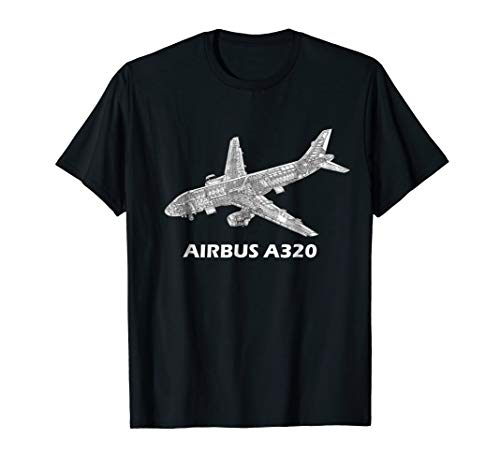 Airbus A320 jet airplane cutaway aviation pilot T-Shirt gift