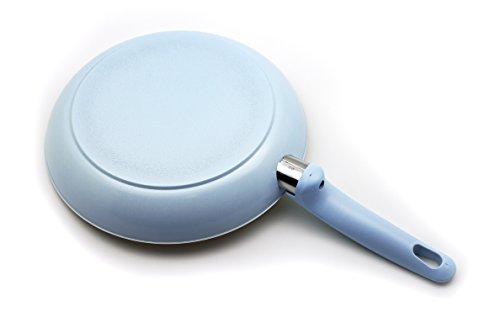 GreenLife Cambridge Induction Pro Ceramic Nonstick Oven Safe Dishwasher Safe Cookware Set, 12-Piece, Light Blue