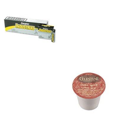 KITEVEEN91GMT14738 - Value Kit - Celestial Seasonings India Spice Chai Tea K-Cups (GMT14738) and Energizer Industrial Alkaline Batteries (EVEEN91)