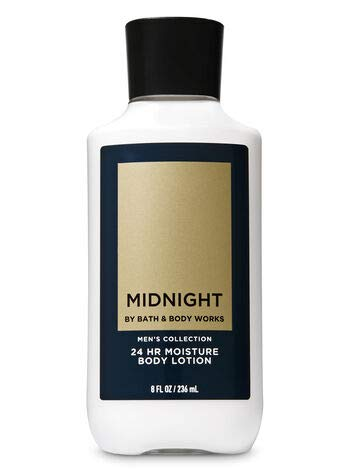 Bath and Body Works Signature Collection Body Lotion Midnight For Men, 8 Ounce