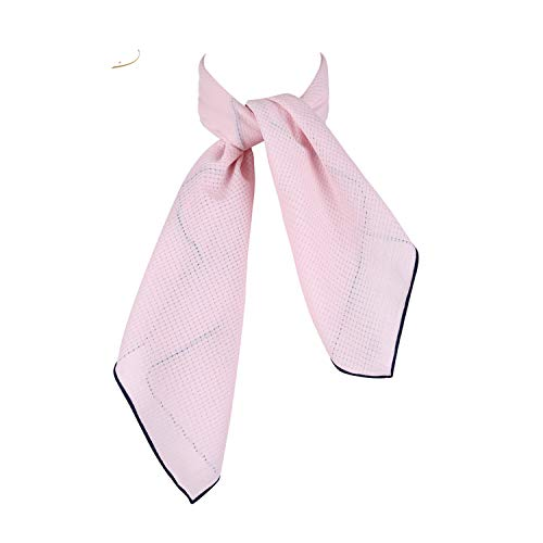 White Women Scarf Small Square Solid Color Collar Little Cravat Scarves 7070Cm Ladies Chiffon Handkerchief SD0017 Pink 70cm