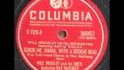 Will Bradley Orch. (Featuring Ray McKinley) ''Scrub Me Mama With A Boogie Beat'' and There I go'' 78 Record Columbia EXCELLENTxxx