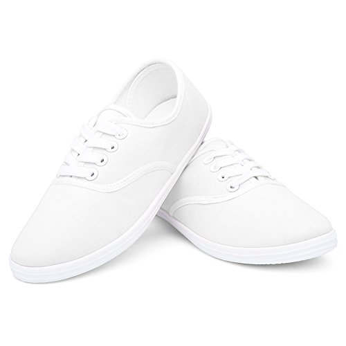 CIOR Lace Original Tote Soft Shoes up white Classic Sneakers F Casual Canvas Round Women Lightweight ra5rqwv4