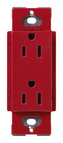 Lutron SCR-15-HT Satin Colors 15A Electrical Socket Duplex Receptacle, Hot