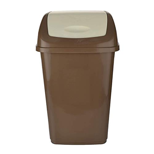 Swing Lid Round Dustbin, 25 litres  Standard, Assorted    Brown.