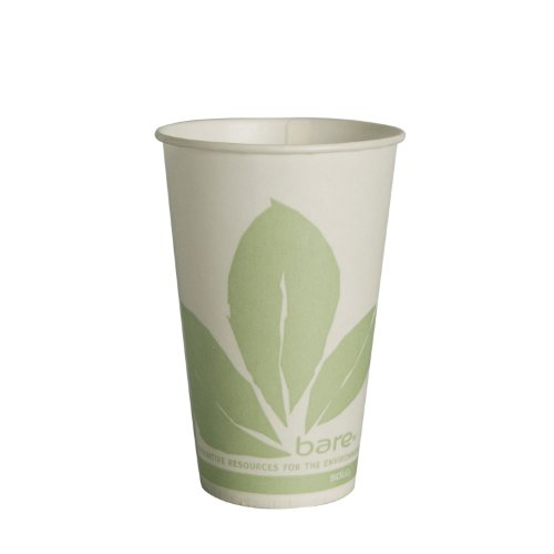 SOLO R12BB-JD110 Waxed Paper Cup, 12 oz. Capacity, Bare (Case of 2,000)