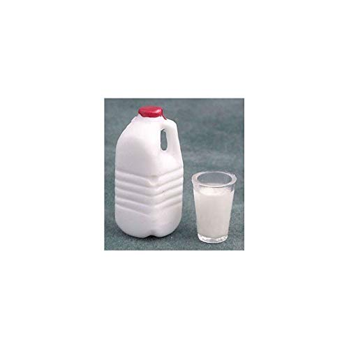 - Dollhouse 1/2 Gallon Milk with glass Of Milk