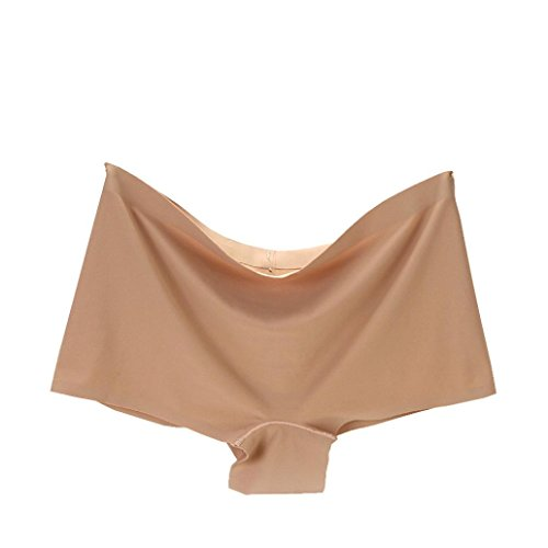 Clearance!Soft Panties,ZYooh Women Hipster Seamless Ice Silk Plus Size Underpants [Lightning Deals Panties] (Beige, M) Fit Panty