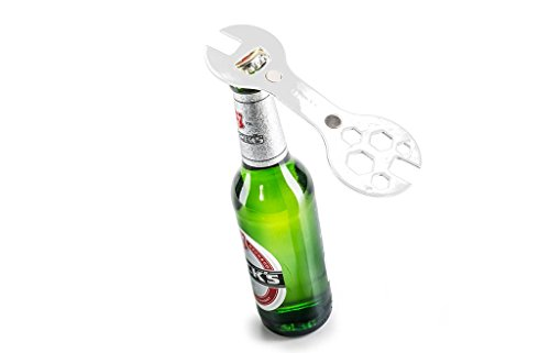 Magnetic Bike Multi Tool & Bottle Opener X3-P-Super Star White for Bicycle Repair and Drink (Bike Tool Bottle Opener compare prices)