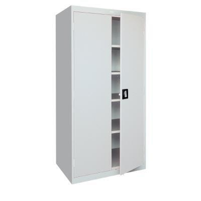 Steel storage cabinet recessed handle 36