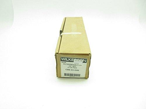 NEW WILKERSON CB6-03-G00 PNEUMATIC FILTER-REGULATOR 3/8IN NPT 0-125PSI D604232 by Wilkerson