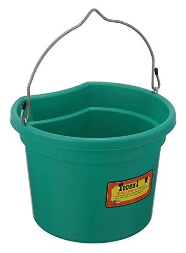 Tough-1 Flat Back Bucket - Pack of 6 - Assorted - 8 Quart