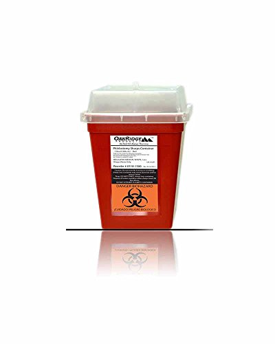 OakRidge-Products-1-Quart-size-Pack-of-5-Needle-Disposal-Container-buy-4-one-get-1-FREE