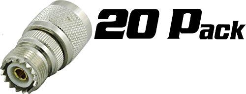 Super Power Supply 20 Pack N Male to UHF SO239 Female Ada...