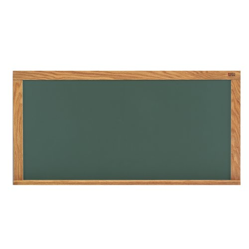 Marsh 33-1/2''x 45-1/2'' Green HPL Chalkboard on 1/2 FB with Mylar, Oak Trim by Marsh