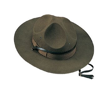 Rothco Military Campaign Hat, Brown, Size 7 3/4