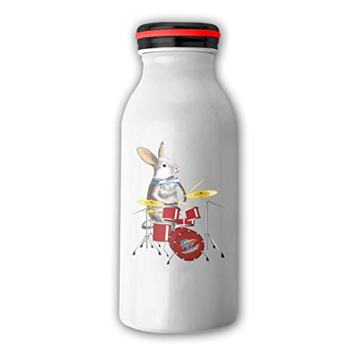 - Jusxout Rabbit with Drum 12oz Stainless Steel Mugs Insulated Vacuum Travel Bottle